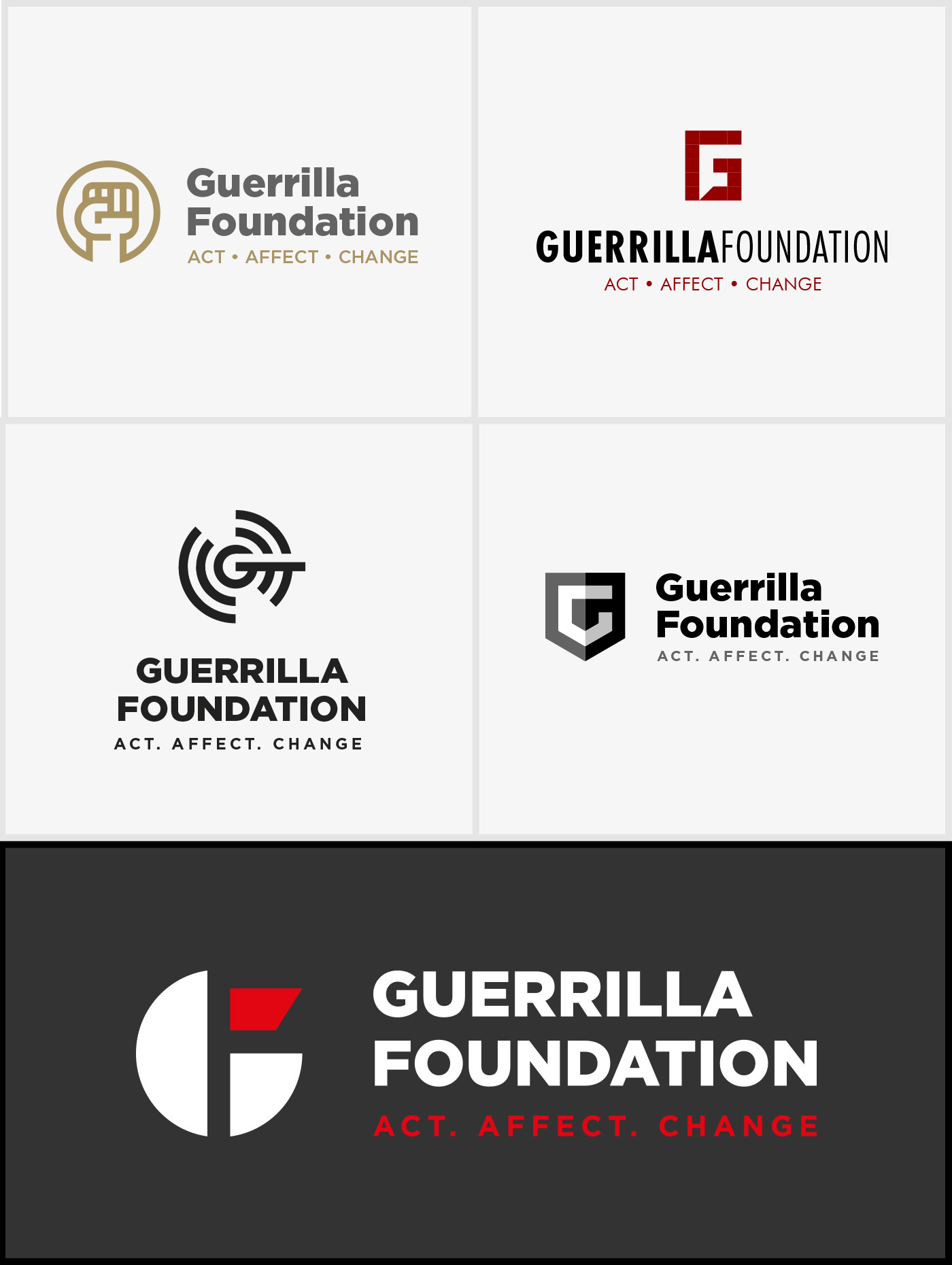 Creating image identity for the Guerrilla Foundation